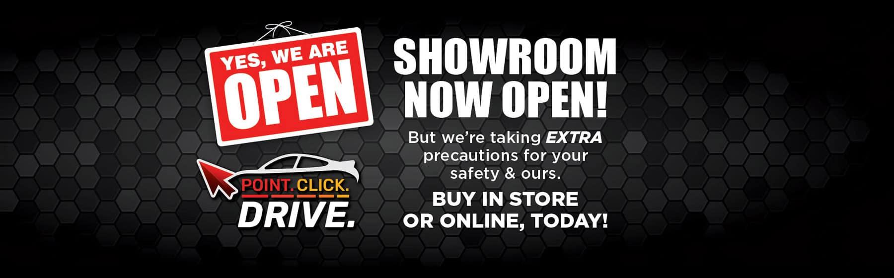 Showrooms Now Open