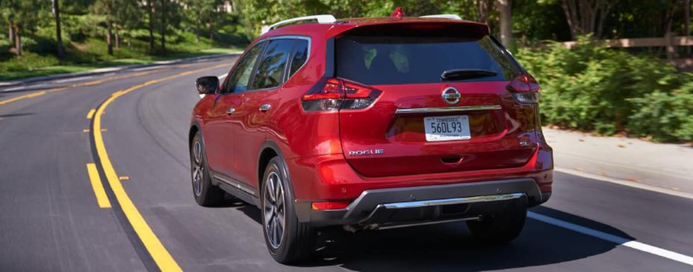 Rear view of a 2020 Nissan Rogue