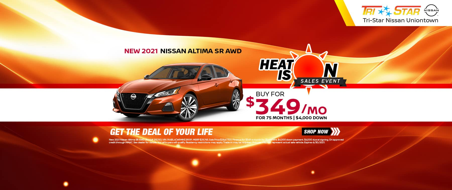 Heat is On Nissan Altima Banner