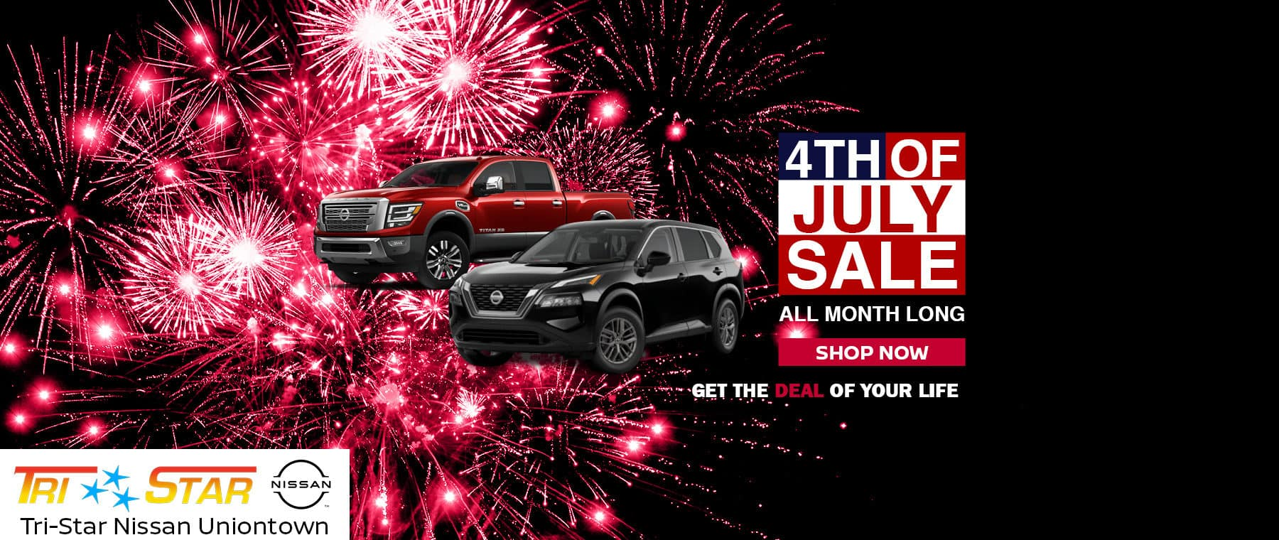 Fourth of July Sale Banner