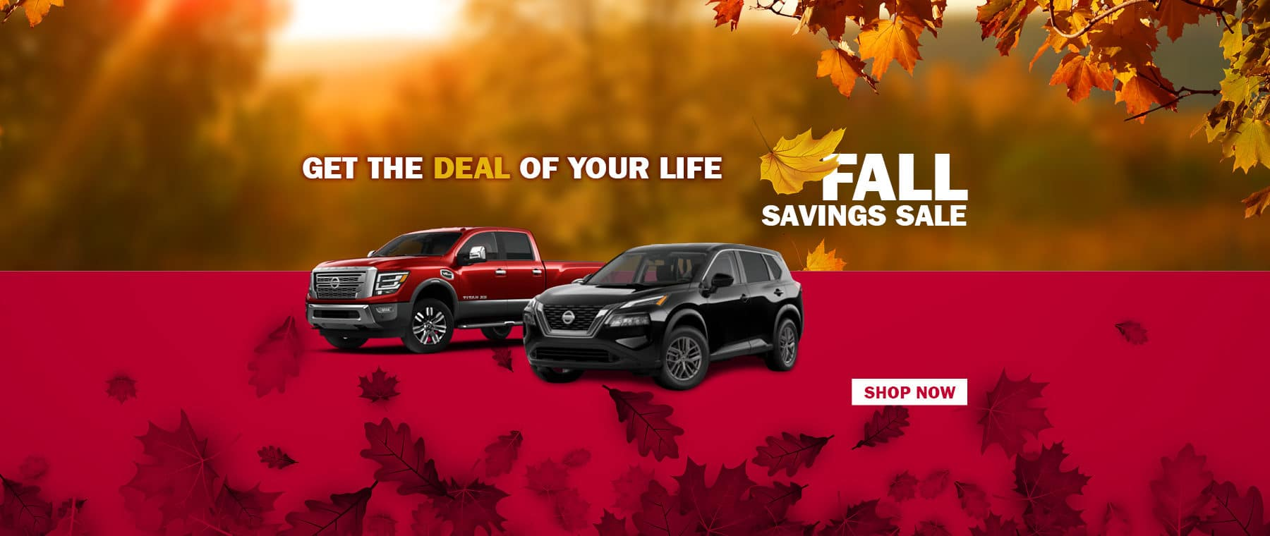 Fall into Savings. Click here for Sale