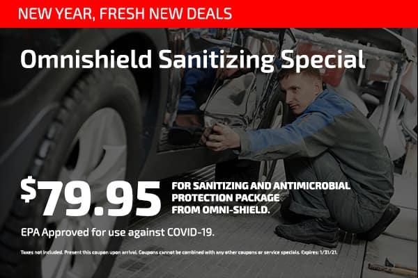 Omnishield Sanitizing Special $79.95