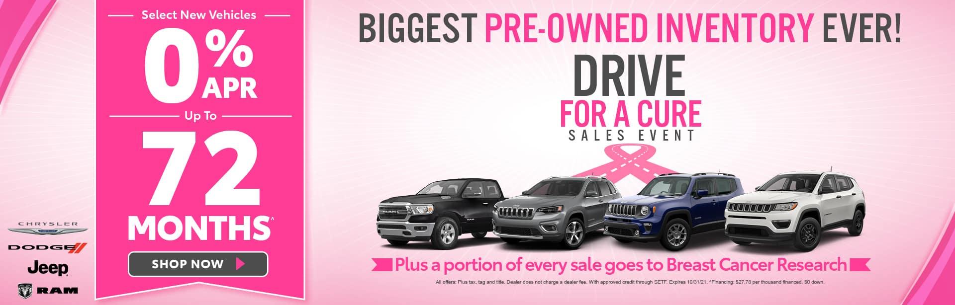 Select New Vehicles 0% APR