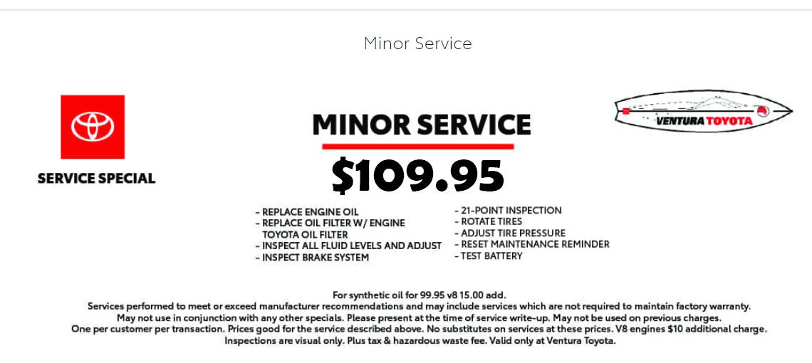 109.95 minor service