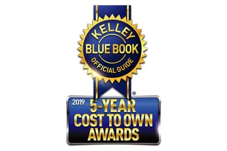new 2019 Toyota Tacoma 5 star cost to own award from Kelley Blue Book