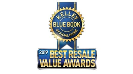 new 2019 Toyota Tacoma best resale value midsize pickup truck from Kelley Blue Book