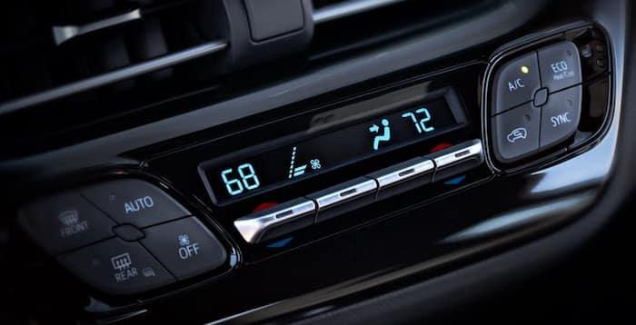 2020 Toyota C-HR standard dual zone climate control
