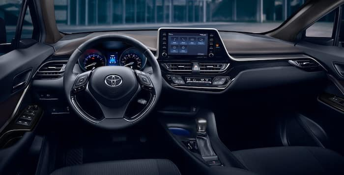 2020 Toyota C-HR available soft-touch, leather-trimmed steering wheel