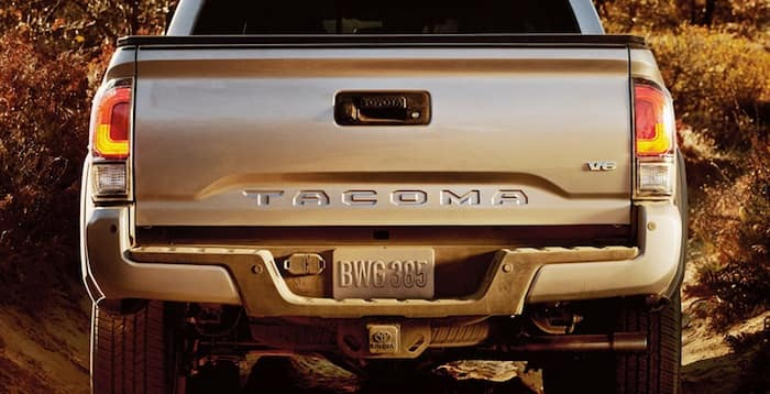 2020 Toyota Tacoma Embossed tailgate with grade-specific taillights