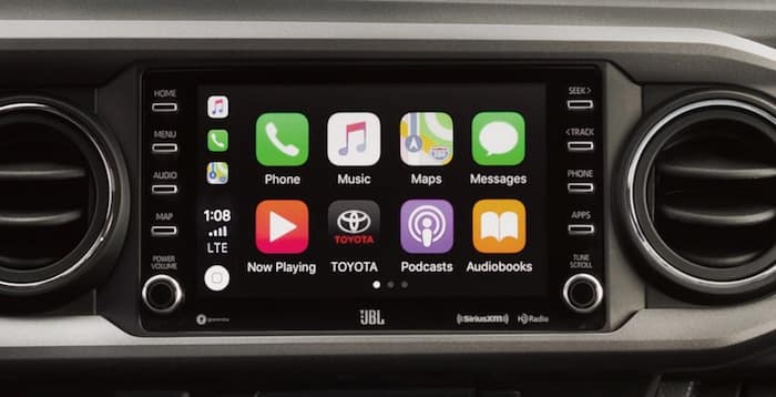 2020 Toyota Tacoma Apple CarPlay compatibility