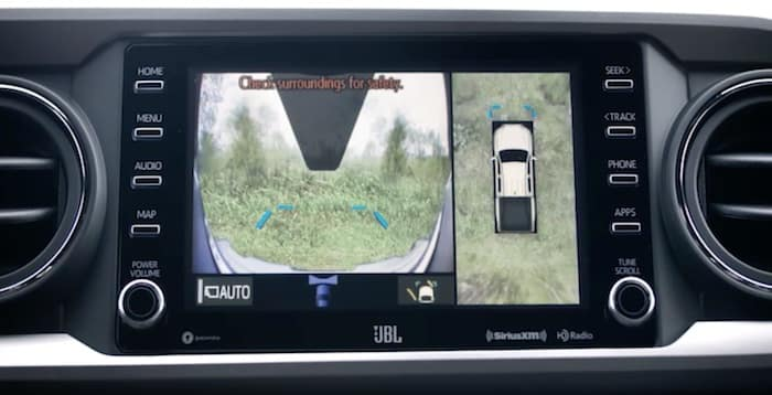2020 Toyota Tacoma available panoramic view monitor (PVM)