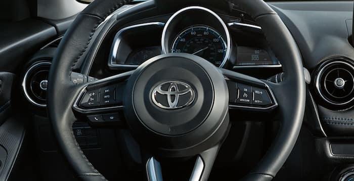 2020 Toyota Yaris steering wheel-mounted controls
