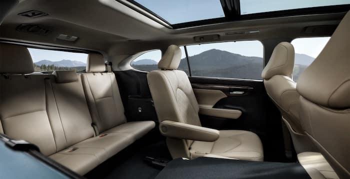 2020 Toyota Highlander third-row seating