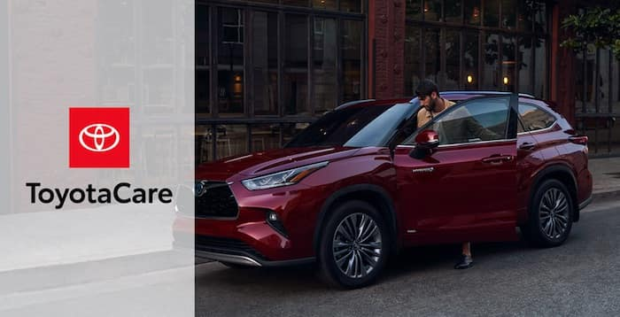 2020 Toyota Highlander No cost maintenance plan and Roadside Assistance