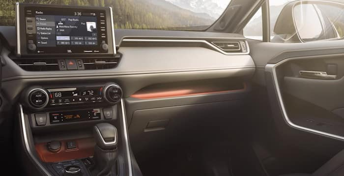 2020 Toyota RAV4 intuitive storage tray and passenger shelf
