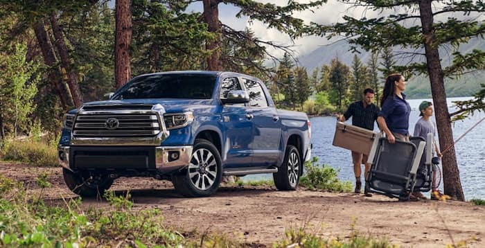2020 Toyota Tundra open truck bed with 1730 lb payload capacity