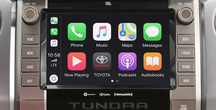 2020 Toyota Tundra Apple CarPlay® compatibility