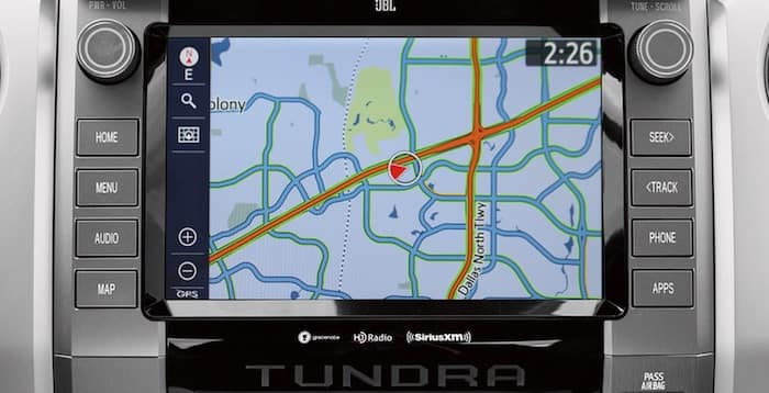 2020 Toyota Tundra integrated navigation