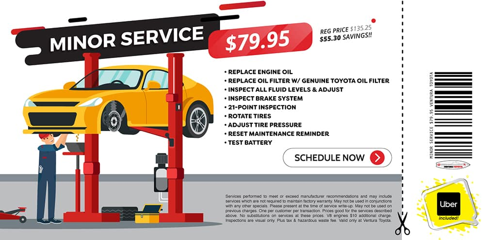 minor service service special at Ventura Toyota dealership