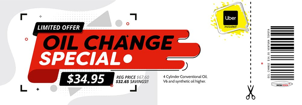 oil change service special at Ventura Toyota dealership