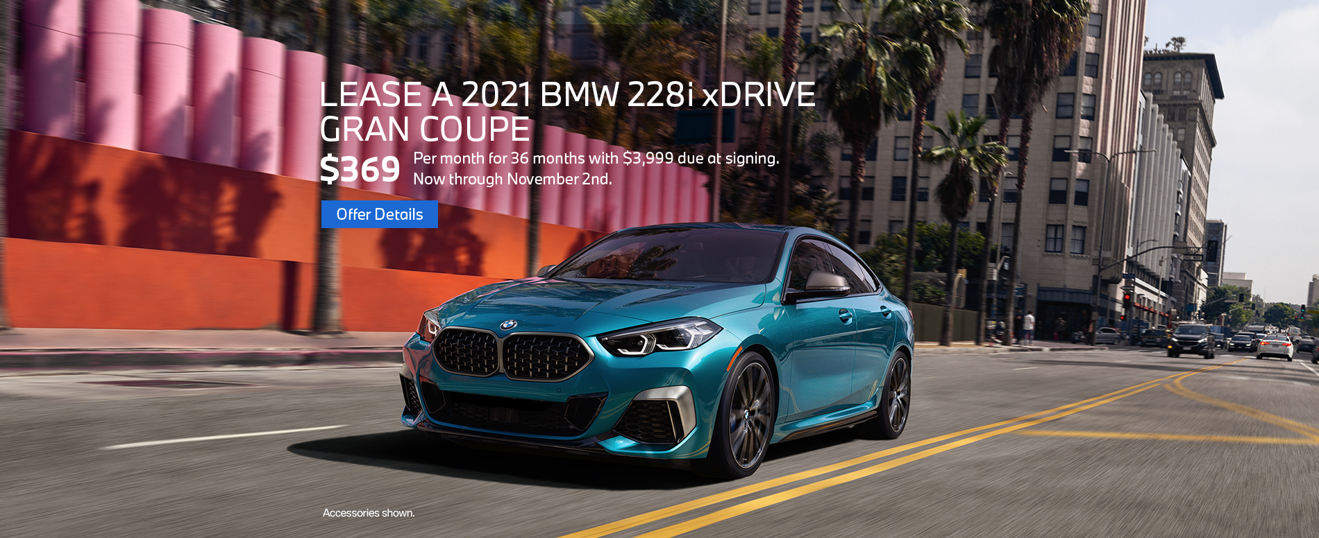 2021 BMW 228i Gran Coupe Lease