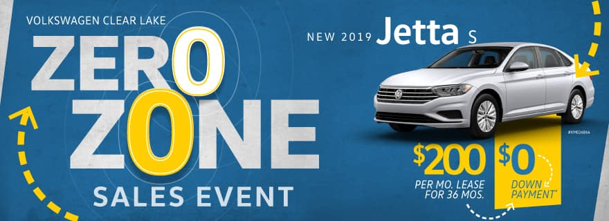 Pay Zero down on any new 2019 Jetta at Volkswagen Clear Lake
