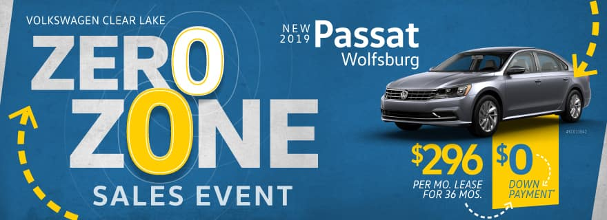 Pay Zero down on any new 2019 Passat Wolfsburg at Volkswagen Clear Lake