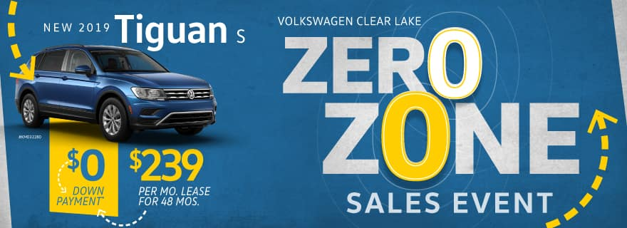 Pay Zero down on any new 2019 Tiguan at Volkswagen Clear Lake