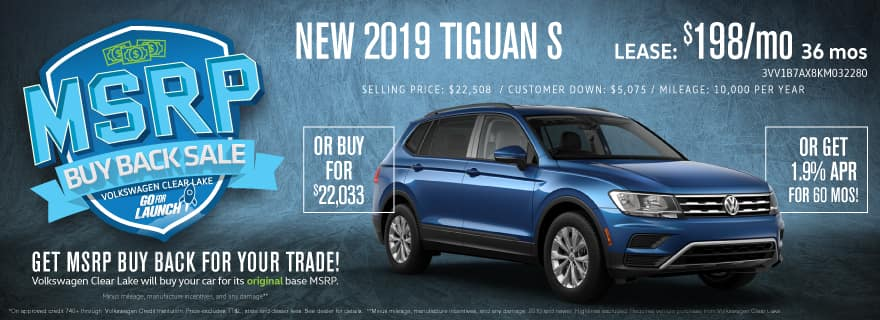Lease the 2019 Tiguan at Volkswagen Clear Lake!