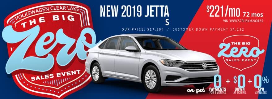 Don't miss Volkswagen Clear Lake's Big Zero Sales Event on Jetta!