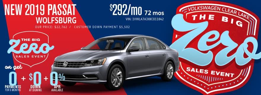 Don't miss Volkswagen Clear Lake's Big Zero Sales Event on Passat!
