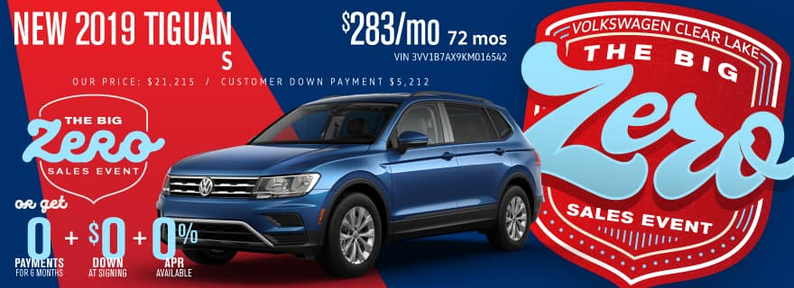 Don't miss Volkswagen Clear Lake's Big Zero Sales Event on Tiguan!