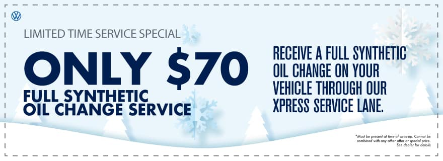 Save big on your next oil change at VW Clear Lake