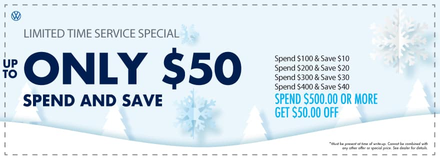 The more you spend, the more you save at VW Clear Lake!