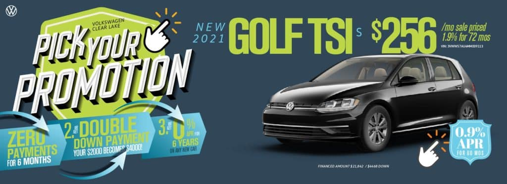 Pick Your Promotion at VW Clear Lake