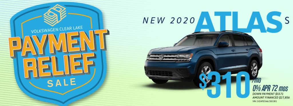 Get Payment Relief on the new Atlas at VW Clear Lake!