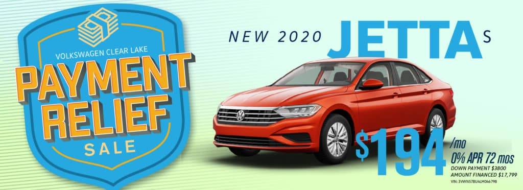 Get Payment Relief on the new Jetta at VW Clear Lake!