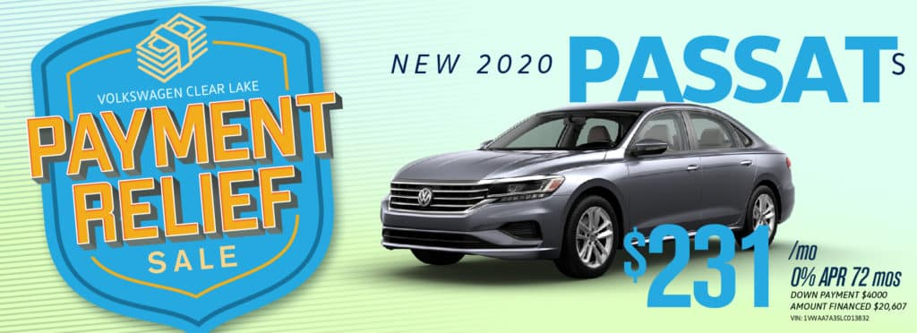 Get Payment Relief on the new Passat at VW Clear Lake!