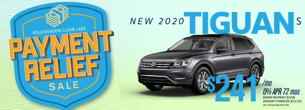 Get Payment Relief on the new Tiguan at VW Clear Lake!
