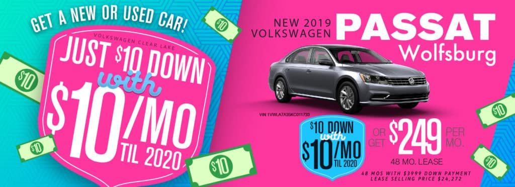 Get $10 a month for the rest of the year on any remaining 2019 Passat!