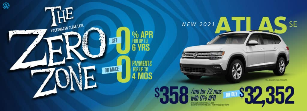 Get 0% for 6 years OR zero payments for 4 months at VW Clear Lake!