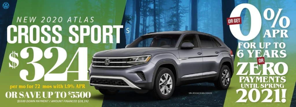 Save thousands on the brand new Atlas Cross Sport at VW Clear Lake