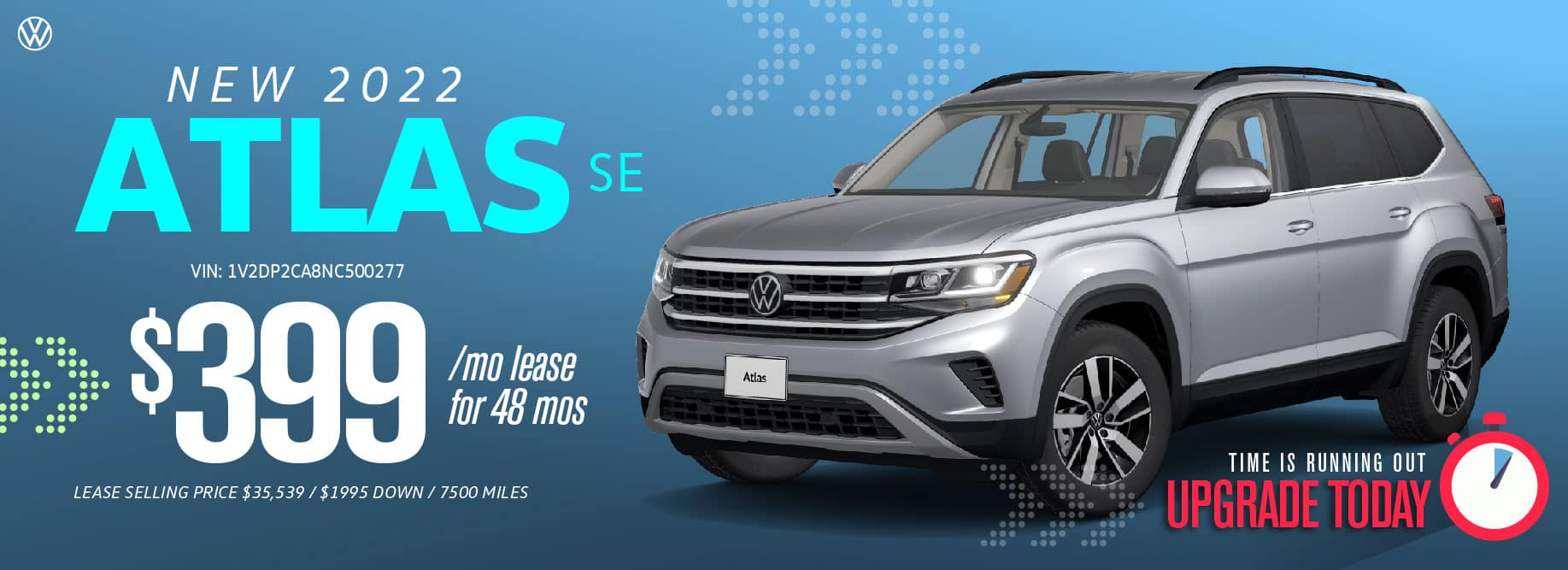 Lease the 2022 Atlas from $399 a month at Volkswagen Clear Lake