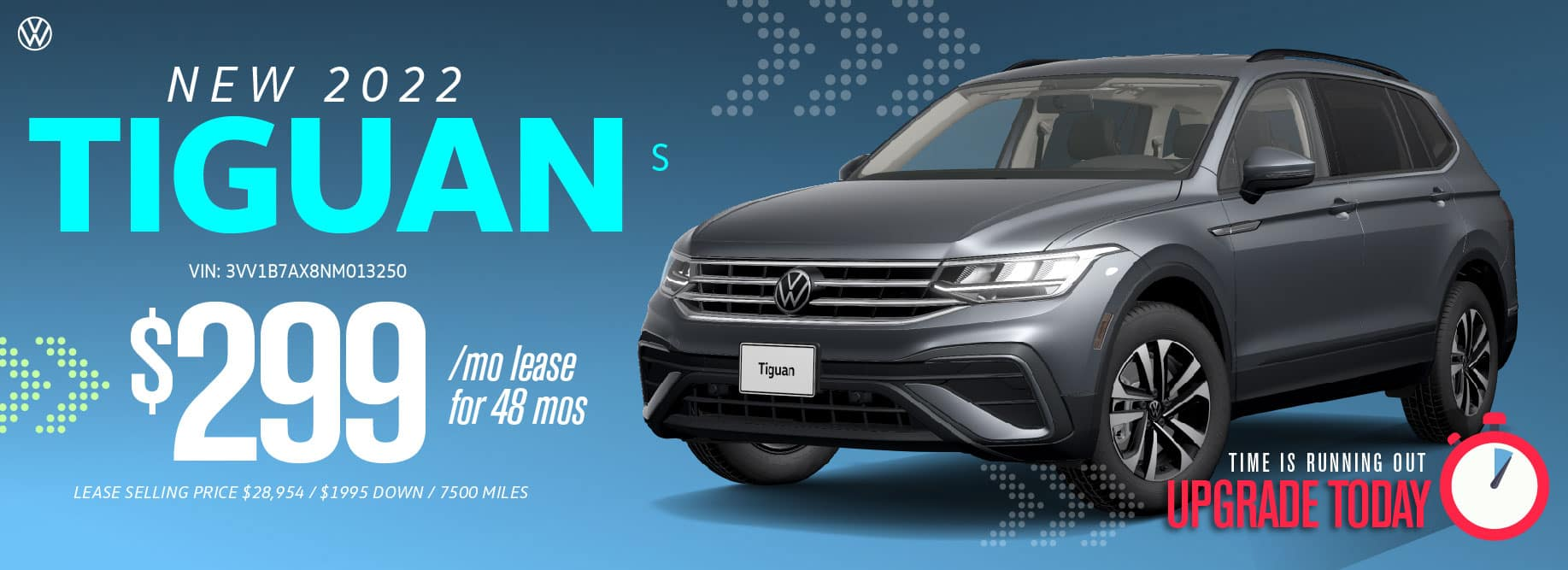 Lease the 2022 Tiguan from $299 a month at Volkswagen Clear Lake