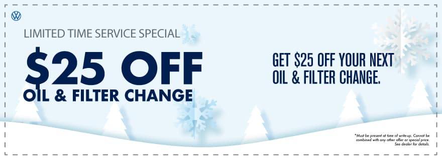 Oil Change discount at VW Cypress