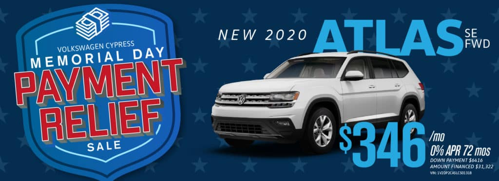 Get ZERO payments for up to 6 months and ZERO percent financing for up to 6 years at VW Cypress!
