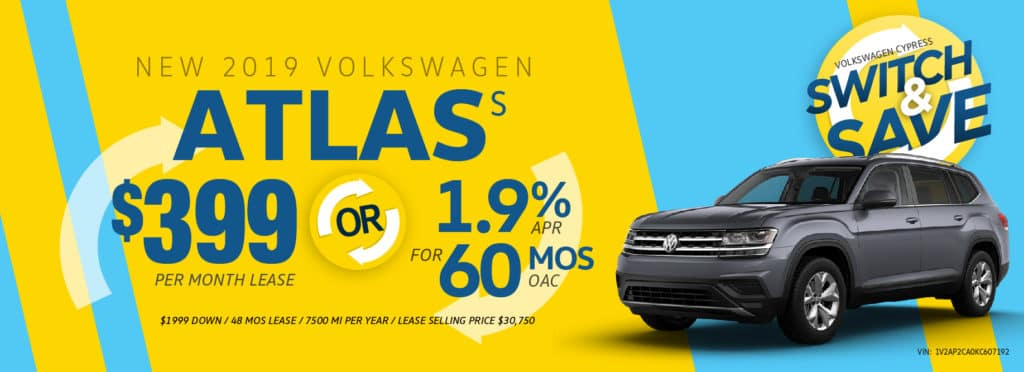 Switch to a new Atlas and Save at Volkswagen Cypress!