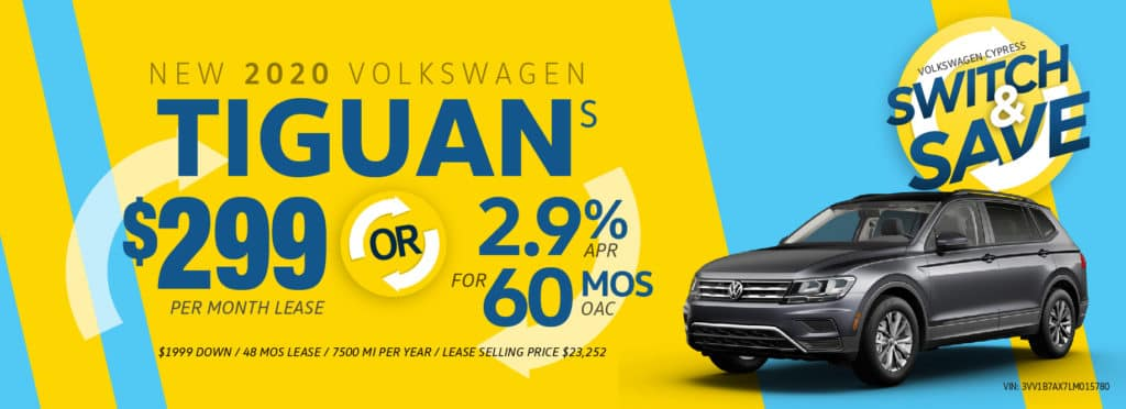 Switch to a new Tiguan and Save at Volkswagen Cypress!