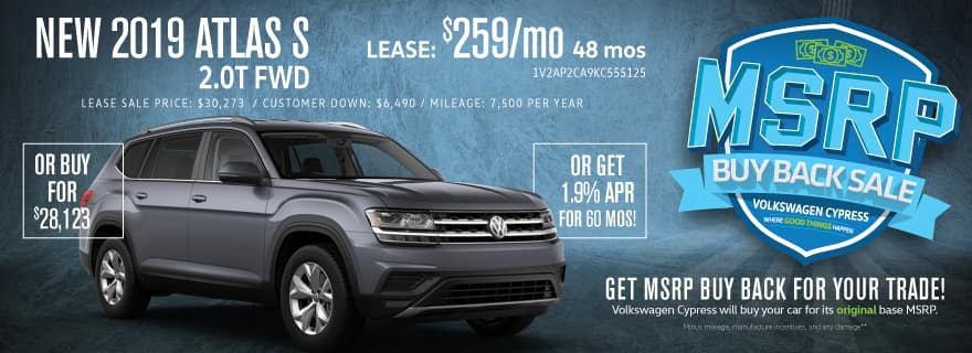 Incredible Savings on the 2019 Atlas!