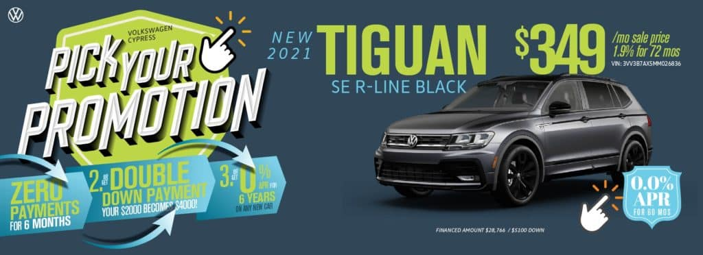 Pick Your Promotion at Volkswagen Cypress
